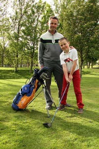 Wayne Whitley O'Callaghan pictured with his Dad Wayne at the Adademy in Fernhill Golf Club. Picture: Niall O'Shea