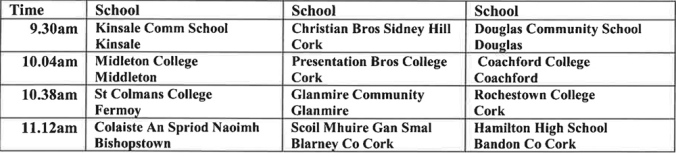 Irish Schools Senior Championship Draws 2014 2015-2
