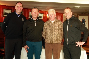 Ted, Brian, Liam and David, the Higgins PGA Professionals who played in the Munster PGA Pro-Am in Waterville. Picture: Niall O'Shea