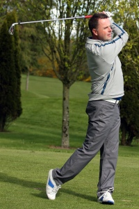 Wayne O'Callaghan pictured during the Munster PGA Morgan O'Donovan Trophy at Monkstown GC. Picture: Niall O'Shea