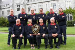 The UCC Staff Golf Society pictured with the Inter-Varsity trophy.   Picture: Niall O'Shea