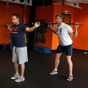 Luke Dennehy (left) and Peter O'Keeffe going through a warming up excercise at the gym in Douglas. Picture: Niall O'Shea