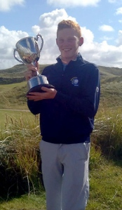 Kinsale's john Murphy with the Kerry Boy's Cup Picture: Gary Ward (@GWard71)