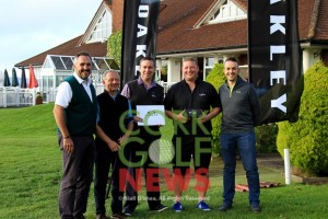 The prize winners at the Oakley Open Singles Series Final at Lee Valley Golf Club. Monday 21st September 2015 Picture: Niall O'Shea