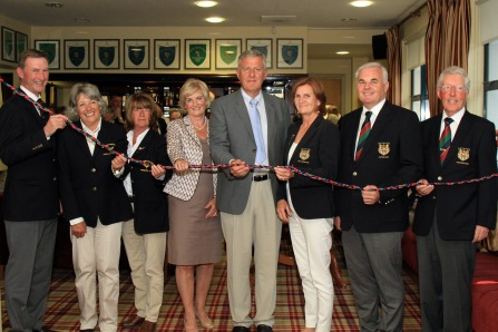 Phil Bruen and David Bruen pictured with Officers from Muskerry Golf Club and Cork Golf Club at the launch of the Bruen Corner at Muskerry. Picture: Niall O'Shea