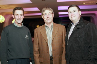 Cyril Fox, Bobby Lee and Bernard Wallace pictured at the Peter Alliss evening in Castlemartyr Golf Club. Picture: Niall O'Shea