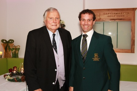 Honorary President Peter Alliss and Captain Tony Loughnane pictured at the Castlemartyr members evening with Peter Alliss. Picture: Niall O'Shea