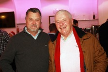 Noel Foley and John Ring pictured at the Castlemartyr Golf Club evening with Peter Alliss. Picture: Niall O'Shea