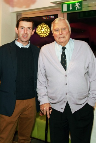 Course Superintendent Trevor Norris pictured with Honorary President Peter Alliss at the Castlemartyr members evening with Peter Alliss. Picture: Niall O'Shea