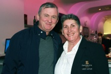 John O'Brien and Kate Heffernan, Lady Captain enjoying the Castlemartyr members evening with Peter Alliss at the Pod. Picture: Niall O'Shea