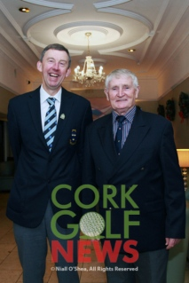 Munster Branch Chairman Jim Long pictured with fellow Monkstown member John O'Reilly, John also served as Munster Branch Chairman and also as President of the Golfing Union of Ireland in 1994. Picture: Niall O'Shea