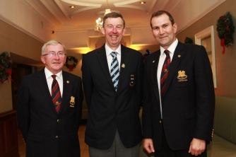 Newly elected Munster Golf Chairman Jim Long pictured with fellow Monkstown members Pat O'Donnell (President) and Carl Toal (Captain). Picture: Niall O'Shea