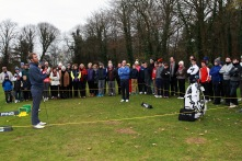 PGA Tour member Seamus Power answers questions during the Monkstown Pro Shop Clinic at Monkstown Golf Club. Picture: Niall O'Shea