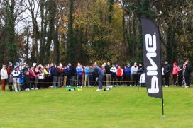 Seamus Power hits a few balls at the Monkstown Pro Shop Clinic at Monkstown Golf Club. Picture: Niall O'Shea