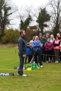 Seamus Power tells Monkstown members about his practice routines at the Monkstown Pro Shop Clinic. Picture: Niall O'Shea