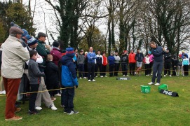 Seamus Power and Cian McNamara pictured at the Monkstown Pro Shop clinic. Picture: Niall O'Shea
