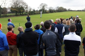 Seamus Power hits a drive at the Monkstown Pro Shop Clinic. Picture: Niall O'Shea