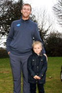 PGA Tour golfer Seamus Power pictured with Sam O'Flynn at the Monkstown Pro Shop junior clinic. Picture: Niall O'Shea