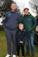 PGA Tour golfer Seamus Power pictured with Sam and Peter O'Flynn at the Monkstown Pro Shop junior clinic. Picture: Niall O'Shea