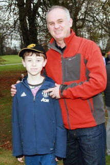 Conor and Marc Tobin pictured at the Seam Power golf clinic at Monkstown Golf Club. Picture: Niall O'Shea