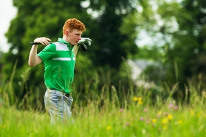 John Murphy of Ireland during a practice round