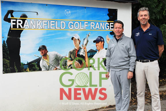 PGA Professionals Michael Ryan and David Whyte pictured at Frankfield Golf Academy. Picture: Niall O'Shea