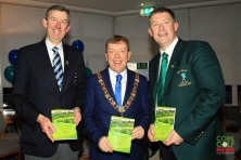 Jim Long, Chairman Munster Golf pictured with Lord Mayor Tony Fitzgerald and Lee Valley Captain Brian O'Donovan. Picture: Niall O'Shea