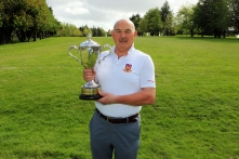 Billy Donlon (Birr) pictured after winning the Munster Seniors Amateur Open at Ennis Golf Club. Picture: Niall O'Shea