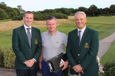 3rd place in Intermediate Cup Jeremy Lettice (Castlemartyr LGC) with President of Castlemartyr LGC John Paul Twomey and Captain Donal Golden