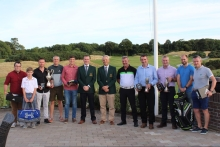 All prize winner's, left to right, Ross O'Callaghan, John Doyle, Gary Morgan, Sean Kelly, Conor Motherway, John Paul Twomey, Donal Golden, Peter Manning, Brendan Bolger, Rory O'Dwyer, Cillian Hurley and Jeremy Lettice