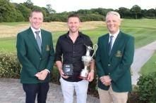 Winner of the Junior Cup Gary Morgan (Castlemartyr LGC)
