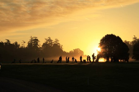 The range at Carton House yesterday morning before the start of the Eisenhower Trophy at the World Amateur Team Championship. Picture: Niall O'Shea