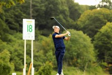 Conor Purcell pictured during his opening round at the Eisenhower Trophy at Carton House. Picture: Niall O'Shea
