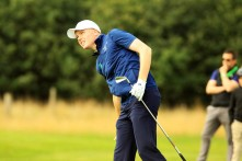 Robin Dawson pictured during his opening round at the Eisenhower Trophy at Carton House. Picture: Niall O'Shea