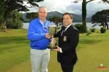 Munster Seniors winner Garth McGimpsey (Royal Portrush) rpictured with James Curran, Captain, Killarney Golf & Fishing Club. Picture: Niall O'Shea