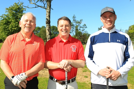 Pat Bourke, Peter Collins and Fergal Murray pictured at Douglas Golf Club. Picture: Niall O'Shea