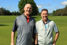 Tom O'Connor and Kieran Brosnan from the South County at the Cork Vintners GS outing at Douglas. Picture: Niall O'Shea