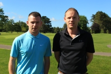 David and Gavin Boland from Monkstown enjoying the golf at Douglas. Picture: Niall O'Shea