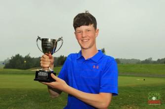Sean McLoughlin (Co Sligo) who won the Munster Boys Under 16 Open at Ballykisteen Golf Club. Picture: Niall O'Shea