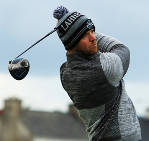 Gameface; Peter O'Keeffe in action in the South of Ireland in Lahinch last year