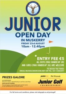 Muskerry Junior open day 2019