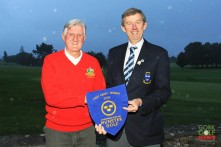 Munster Golf Chairman Jim Long preseting the Munster Fred Perry pennant to Templemore Captain Tony O'Toole. Picture: Niall O'Shea