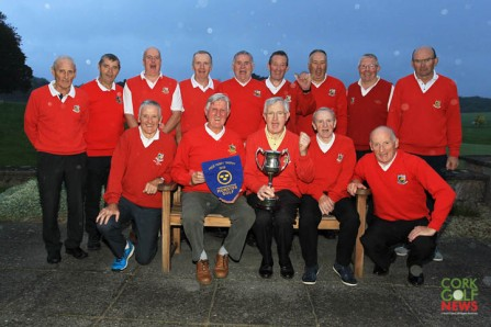 Templemore Golf Club members pictured after winning the Munster Final of the Fred Perry Trophy at Cork Golf Club. Picture: Niall O'Shea