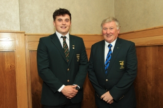 James Sugrue pictured with Irish Mens Captain John Carroll at the Musnter Golf Annual Delegates Meeting in Mallow. Picture: Niall O'Shea
