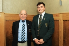 Munster GOlf's John Fennessy pictured with Munster Senior Golfer of the Year and Amateur Championship winner James Sugrue. John was a selector and captain when James came through the Munster and Irish junior golf teams. Picture: Niall O'Shea