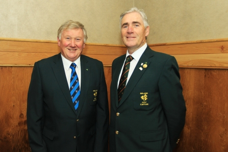Irish Captains John Carroll (Irish Mens Team) and Michael Coote (Irish Seniors Team) pictured at the Munster Golf Annual Delegates Meeting in Mallow. Picture: Niall O'Shea
