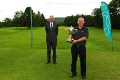 Munster Seniors winner John O'Brien (Castlemartyr) pictured with Jim Long, Chairman Golf Ireland Munster Regional Executive Committee. Picture: Niall O'Shea