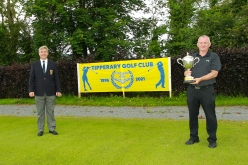 Munster Seniors champion John O'Brien (Castlemartyr) pictured with Tipperary Captain Tony O'Sullivan. Picture: Niall O'Shea