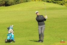 Peter O'Keeffe plays his apporach to the 3rd during the final round of the Munster Stroke Play at Cork Club. Picture: Niall O'Shea
