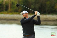 Peter O'Keeffe driving off the 4th tee during the final round of the Munster Stroke Play at Cork Club. Picture: Niall O'Shea